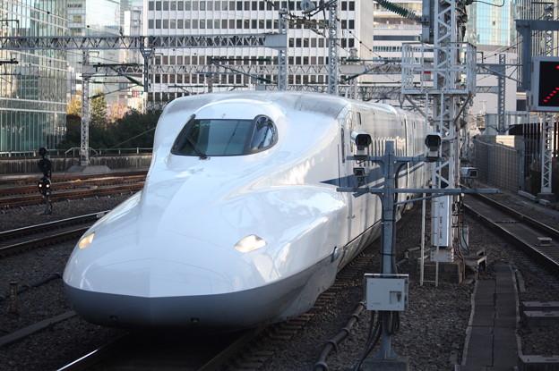 東海道新幹線 N700系2000番台X46編成 東京駅到着