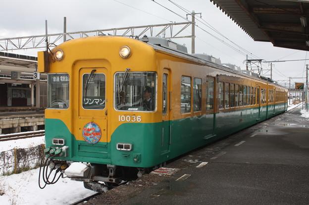 富山地方鉄道 10000系10036 普通 電鉄富山 行 (1)