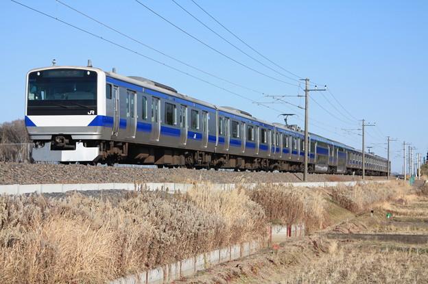 常磐線 E531系K412編成 394M 普通 上野 行