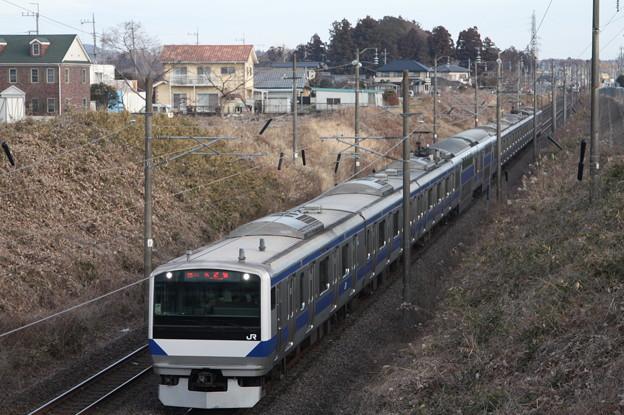 常磐線 E531系K412編成 354M 普通 上野 行
