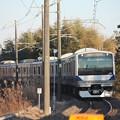 水戸線 E531系K466編成 756M 普通 小山 行 (1)