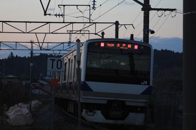 水戸線 E531系K455編成 760M 普通 小山 行 後追い
