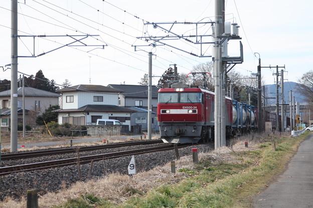 Photos: 2095レ EH500-34+コキ (2)