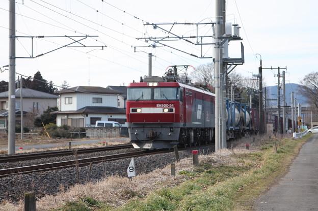 Photos: 2095レ EH500-34+コキ (4)
