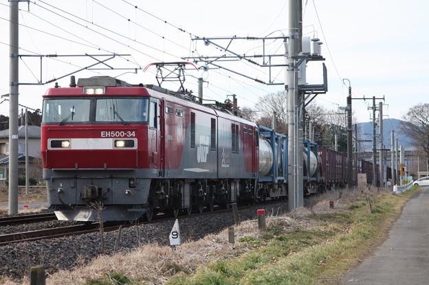Photos: 2095レ EH500-34+コキ (7)