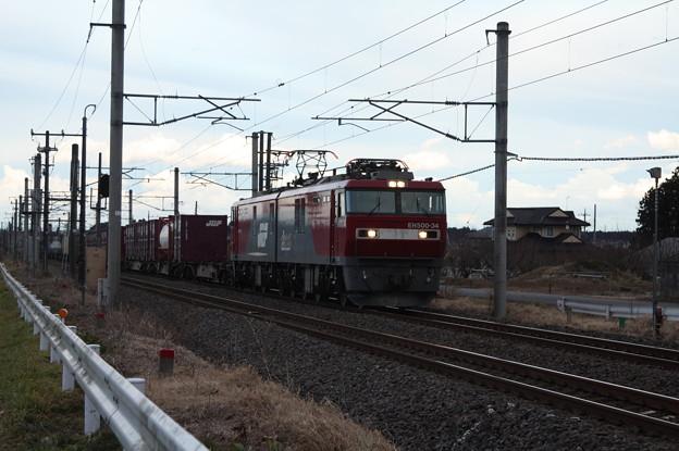 Photos: 2094レ EH500-34+コキ (6)