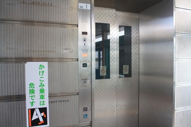 南港東駅 改札階~ホーム階 エレベーター