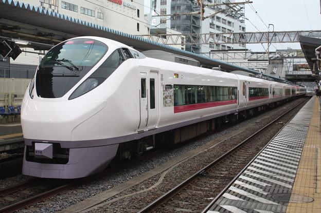 E657系K16編成「花丸遊印録」ラッピング 80M 特急ときわ80号 品川 行 後追い 2019.02.15
