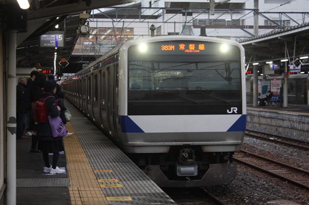 常磐線 E531系K417編成 383M 普通 水戸 行 2019.02.15