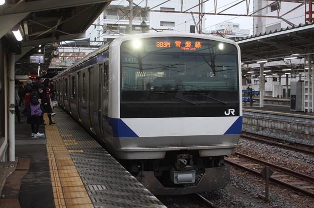 常磐線 E531系K417編成 383M 普通 水戸 行 2019.02.15 (1)