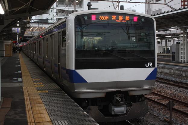 常磐線 E531系K417編成 383M 普通 水戸 行 2019.02.15 (3)