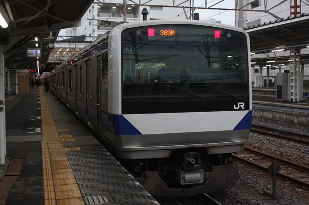 常磐線 E531系K417編成 383M 普通 水戸 行 2019.02.15 (4)