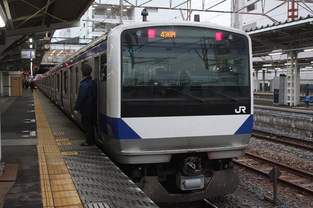 常磐線 E531系K417編成 383M 普通 水戸 行 2019.02.15 (5)