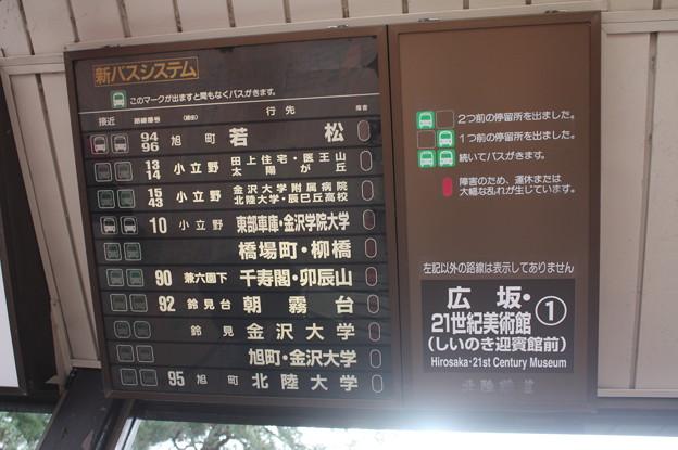 北陸鉄道 広坂・21世紀美術館 バス停 バスロケーションシステム