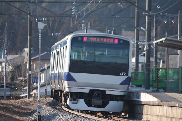 水戸線 E531系K471編成 756M 普通 小山 行 後追い (1)