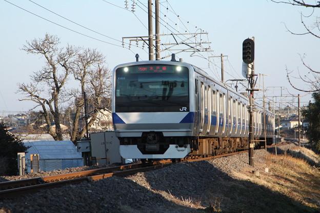 水戸線 E531系K468編成 758M 普通 小山 行