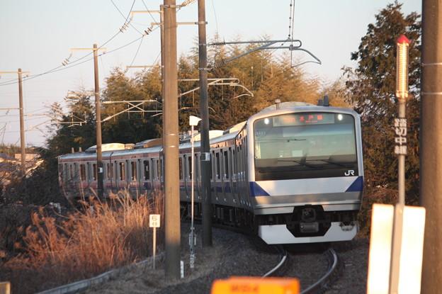 水戸線 E531系K451編成 760M 普通 小山 行 (1)
