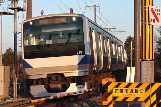 水戸線 E531系K451編成 760M 普通 小山 行 (3)