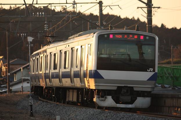 水戸線 E531系K451編成 760M 普通 小山 行 後追い (1)