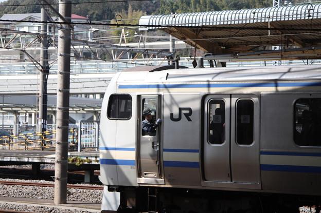 横須賀線 E217系に乗務する女性車掌
