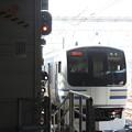 Photos: 車庫に引き上げるE217系Y-4編成