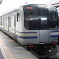 Photos: 横須賀線 E217系 逗子駅で前4両切り離し 引き上げ