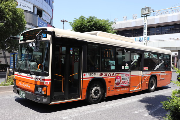 東武バス 5138号車 大61系統 日進公園 経由 シティハイツ三橋 行き (2)