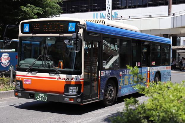 東武バス 5174号車 大62系統 平方上野 経由 丸山公園 行き