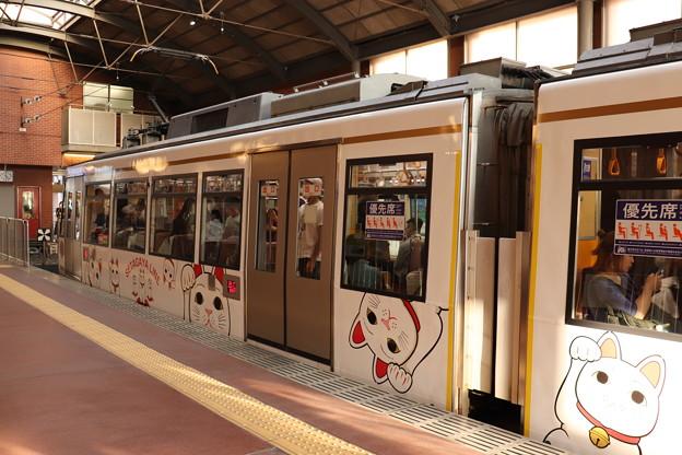 東急世田谷線 300系 招き猫電車 側面 (2)