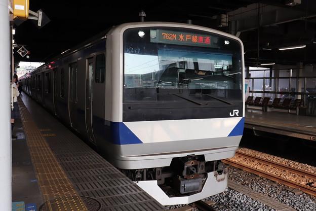 水戸線 E531系K477編成 762M 普通 小山 行 2019.06.06