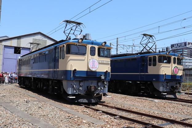 EF65 1102・EF65 2101 「さくら」ヘッドマーク