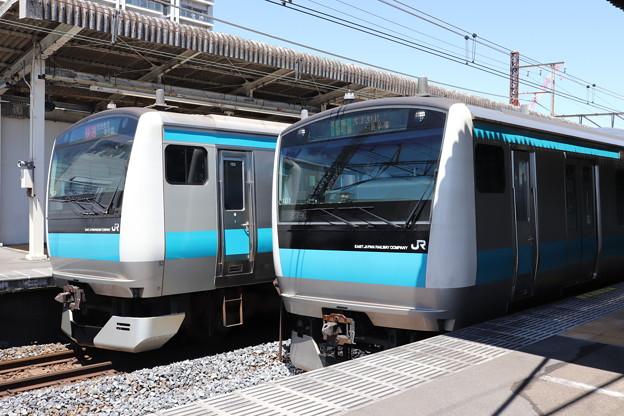 根岸線 E233系1000番台サイ153編成・サイ101編成