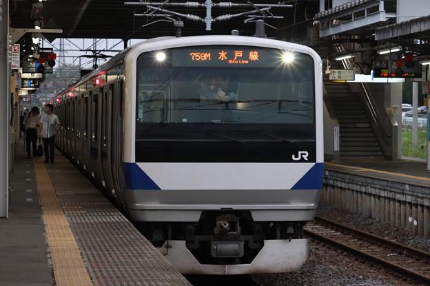 水戸線 E531系K474編成 759M 普通 友部 行 2019.07.22 (1)