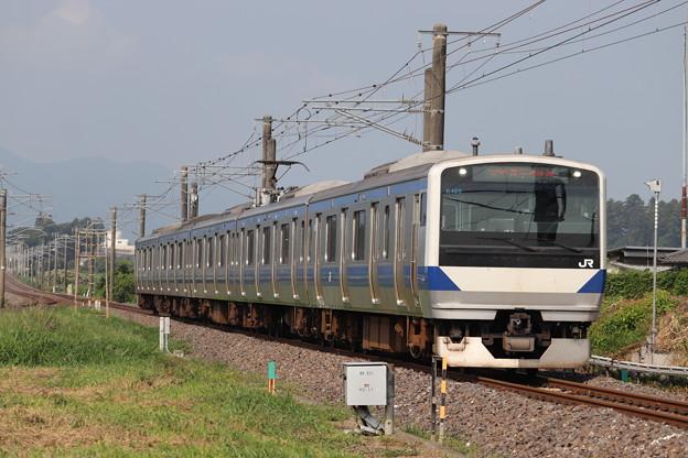 水戸線 E531系K469編成 729M 普通 水戸 行 2019.08.03