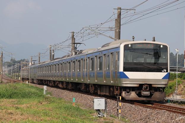 常磐線 E531系K415編成 327M 普通 勝田 行 2019.08.03