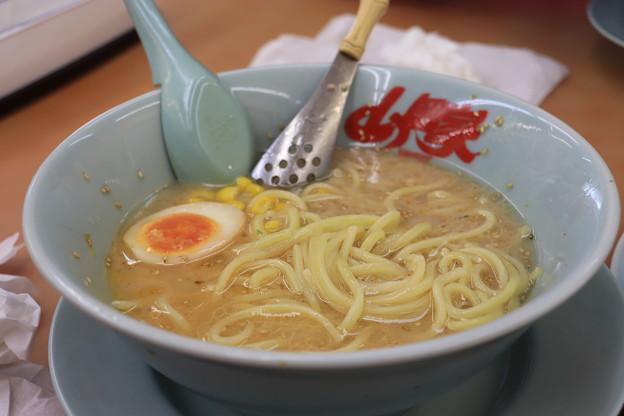 Photos: ラーメン山岡家 塩ラーメン メンマ・コーン トッピング アップ