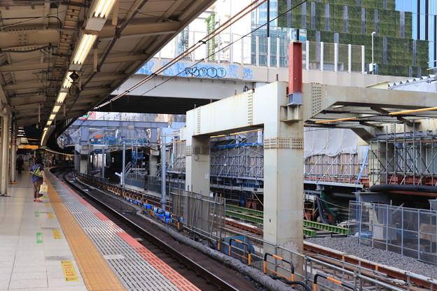 建設中の埼京線渋谷駅新ホーム