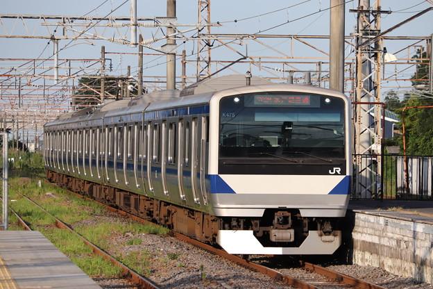 水戸線 E531系K475編成 762M 普通 小山 行 2019.08.05