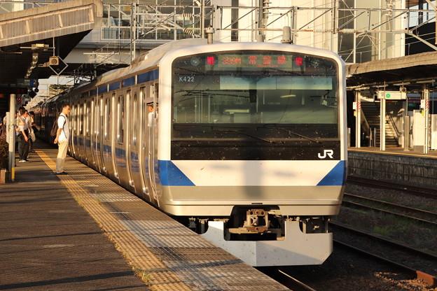 常磐線 E531系K422編成 399M 普通 勝田 行 後追い 2019.08.05