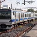 水戸線 E531系K475編成 725M 普通 勝田 行 後追い 2019.09.07