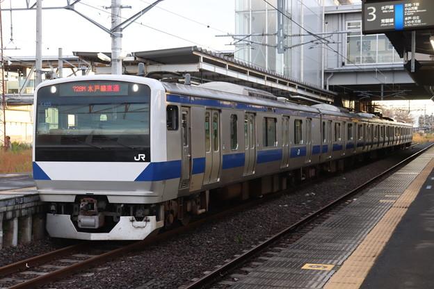 水戸線 E531系K455編成 728M 普通 小山 行 2019.10.26