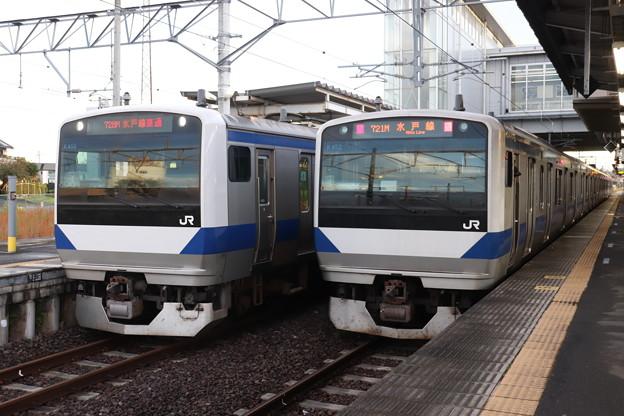 水戸線 E531系K455編成・K452編成 2019.10.26