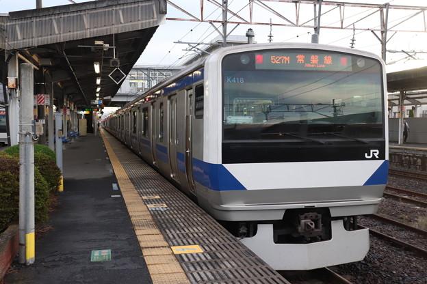 常磐線 E531系K418編成 527M 普通 高萩 行 2019.10.26
