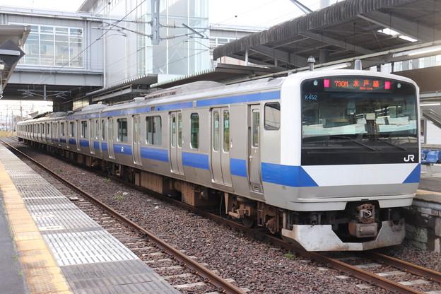 水戸線 E531系K452編成 730M 普通 小山 行 2019.10.26
