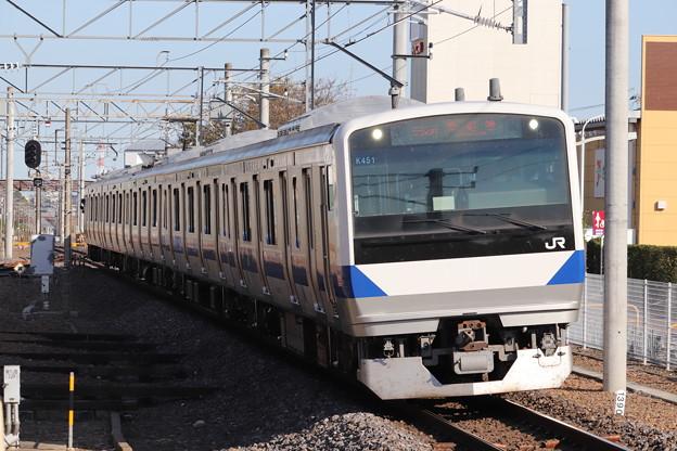 常磐線 E531系K451編成 552M 普通 土浦 行 2019.11.09