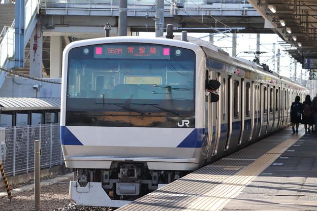 常磐線 E531系K451編成 552M 普通 土浦 行 後追い 2019.11.09