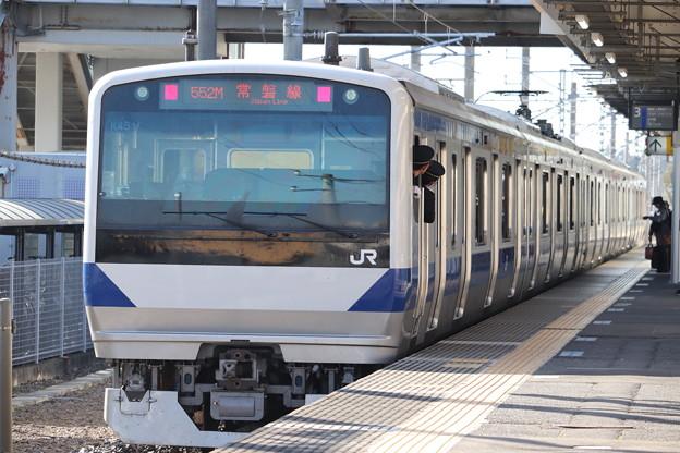 常磐線 E531系K451編成 552M 普通 土浦 行 後追い 2019.11.09 (1)