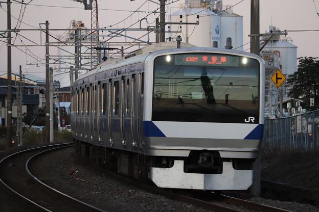常磐線 E531系K404編成 436M 普通 上野 行 2019.11.09 (1)