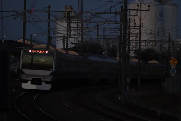 Photos: 常磐線 E531系 391M 普通 水戸 行 2019.11.09 (1)