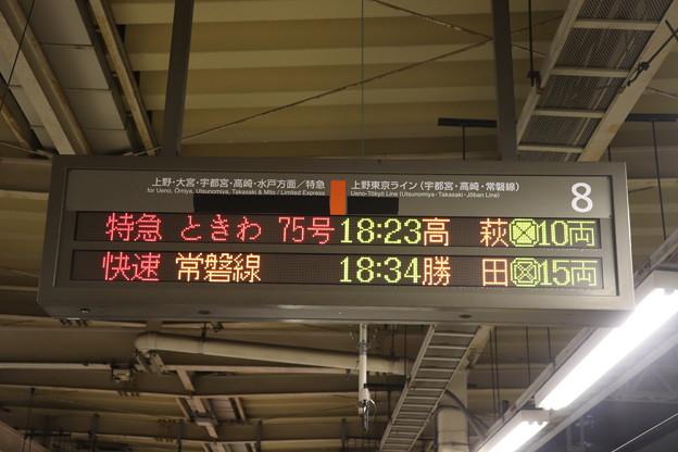 東京駅8番線 発車案内表示